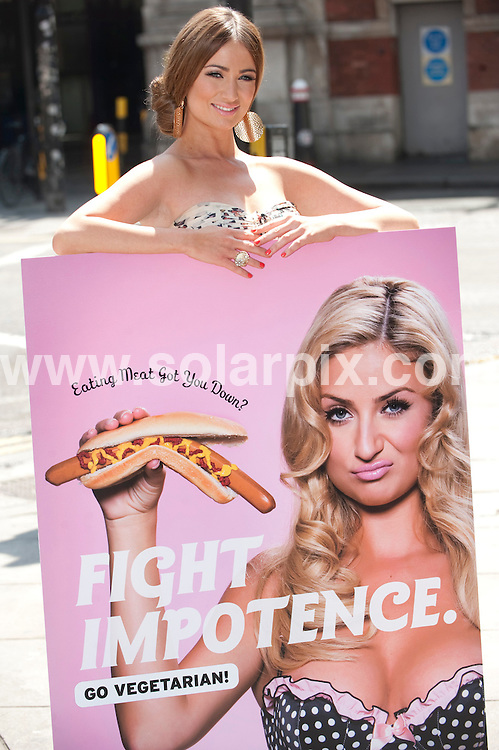**ALL ROUND PICTURES FROM SOLARPIX.COM**.**WORLDWIDE SYNDICATION RIGHTS**.Chantelle Houghton launches a new poster campaign for PETA (People for the Ethical Treatment of Animals) at Smithfield meat market in London, UK. 2 June 2010..This pic: Chantelle Houghton..JOB REF: 11379 RSR       DATE: 02_06_2010.**MUST CREDIT SOLARPIX.COM OR DOUBLE FEE WILL BE CHARGED**.**MUST NOTIFY SOLARPIX OF ONLINE USAGE**.**CALL US ON: +34 952 811 768 or LOW RATE FROM UK 0844 617 7637**