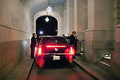 The Presidential limousine waits for President Barack Obama and First Lady Michelle Obama outside an entrance to the U.S. Capitol building following the President's State of the Union address, Wednesday, January 27, 2010. .Mandatory Credit: Pete Souza - White House via CNP