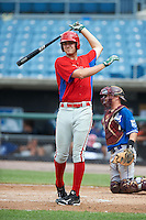 Tyler Green #30 of Williamsville North High School in Williamsville, New York playing for the Philadelphia Phillies scout team during the East Coast Pro Showcase at Alliance Bank Stadium on August 2, 2012 in Syracuse, New York.  (Mike Janes/Four Seam Images)