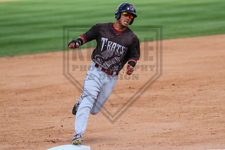 BELOIT - September 2014: Omar Garcia (21) of the Wisconsin Timber Rattlers during a game against the Beloit Snappers on September 1st, 2014 at Pohlman Field in Beloit, Wisconsin.  (Photo Credit: Brad Krause)