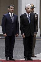 Mario Monti e Nikola Gruevski.Roma 22/10/2012 Palazzo Chigi Incontro tra il Presidente del Consiglio e il il Primo Ministro della Macedonia.Photo Matteo Ciambelli / Insidefoto