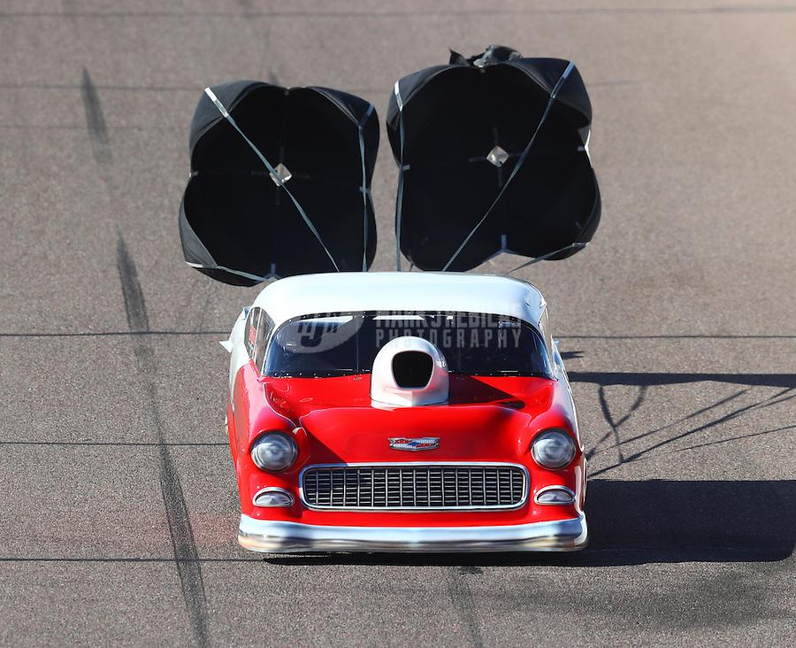 Feb 25, 2017; Chandler, AZ, USA; NHRA top sportsman driver John Taylor Jr during qualifying for the Arizona Nationals at Wild Horse Pass Motorsports Park. Mandatory Credit: Mark J. Rebilas-USA TODAY Sports