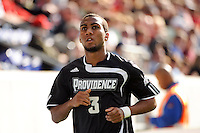 George Hodge (3) of the Providence Friars. The Louisville Cardinals defeated the Providence Friars 3-2 in penalty kicks after playing to a 1-1 tie during the finals of the Big East Men's Soccer Championship at Red Bull Arena in Harrison, NJ, on November 14, 2010.