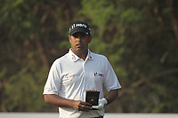 Anirban Lahiri (IND) in action on the 13th during Round 2 of the Hero Indian Open at the DLF Golf and Country Club on Friday 9th March 2018.<br /> Picture:  Thos Caffrey / www.golffile.ie<br /> <br /> All photo usage must carry mandatory copyright credit (&copy; Golffile | Thos Caffrey)