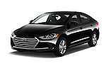 2017 Hyundai Elantra SE 4 Door Sedan Angular Front stock photos of front three quarter view