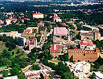 Aerial photograph of the University of Kansas Jayhawks .stadium