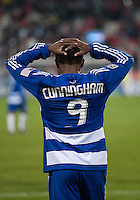21 November 2010: FC Dallas forward Jeff Cunningham #9 missed a chance of scoring in extra time during the 2010 MLS CUP between the Colorado Rapids and FC Dallas at BMO Field in Toronto, Ontario Canada..The Colorado Rapids won 2-1 in extra time....
