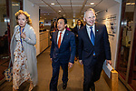 BRUSSELS - BELGIUM - 16 December 2019 --  Agriculture and Fisheries Council meeting - Presidency of Finland. -- Jari Leppä (R), Minister of Agriculture and Forestry for Finland walking with FAO Director-General Qu Dongyu. -- PHOTO: Juha ROININEN / EUP-IMAGES