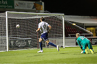 Paul Hayes of Wycombe Wanderers scores his team's second goal of the game to make it 0-2 during the The Checkatrade Trophy match between Northampton Town and Wycombe Wanderers at Sixfields Stadium, Northampton, England on 30 August 2016. Photo by David Horn / PRiME Media Images.