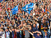 June 10th 2017, Hampden park, Glasgow, Scotland; World Cup 2018 Qualifying football, Scotland versus England; Scotland fans celebrate their teams first goal from a free kick from Griffiths in the 87th minute