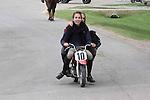 TWO GIRLS ON A MINI MOTOR BIKE