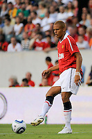 Wes Brown (6) of Manchester United. Manchester United (EPL) defeated the Philadelphia Union (MLS) 1-0 during an international friendly at Lincoln Financial Field in Philadelphia, PA, on July 21, 2010.