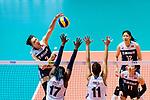 Fangxu Yang of China attacks during the FIVB Volleyball Nations League Hong Kong match between China and Italy on May 31, 2018 in Hong Kong, Hong Kong. Photo by Marcio Rodrigo Machado / Power Sport Images