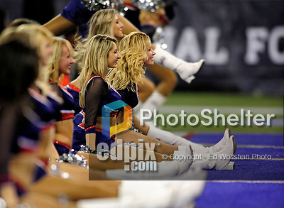 3 December 2009: The Buffalo Bills' cheerleaders the Buffalo Jills, entertain the fans during a game against the New York Jets at the Rogers Centre in Toronto, Ontario, Canada. The Bills fell to the Jets 19-13. Mandatory Credit: Ed Wolfstein Photo