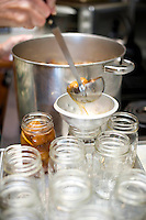 Carol Ritchie making fig preserves.