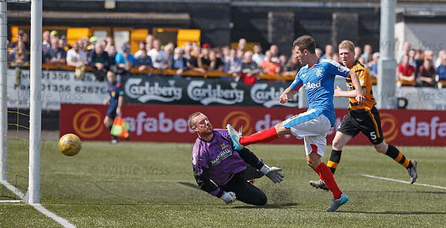 Jason Holt scores goal no 3 past keeper Andy McNeill