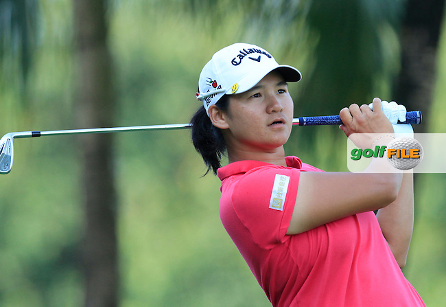 Yani Tseng (TWA) on the 2nd tee during Round 4 of the HSBC Women's Champions at the Sentosa Golf Club, The Serapong Course in Singapore on Sunday 8th March 2015.<br /> Picture:  Thos Caffrey / www.golffile.ie