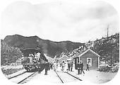 Special excursion train on the Colorado Midland around 1900.<br /> Colorado Midland    ca. 1900