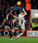 Andreas Pereira of Manchester United is challenged by Harry After of Bournemouth<br /> - Barclays Premier League - Bournemouth vs Manchester United - Vitality Stadium - Bournemouth - England - 12th December 2015 - Pic Robin Parker/Sportimage