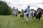 Stamford, Lincolnshire, United Kingdom, 7th September 2019, Competitors in the Shetland Pony Grand National head to the main arena on Day 3 of the 2019 Land Rover Burghley Horse Trials, Credit: Jonathan Clarke/JPC Images