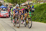 Leading group with Jaco Venter (RSA,MTN) at Cote de Stockeu, Stavelot, Belgium, 27 April 2014, Photo by Thomas van Bracht / www.pelotonphotos.com