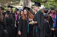 Thea Doyon and Michael Spieckerman, Occidental College's Commencement for the class of 2015 at the Remsen Bird Hillside Theater, Sunday, May 17, 2015.<br />