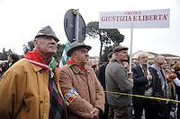 Roma 25 Aprile 2011.Porta San Paolo.Celebrazione per l'anniversario della  liberazione dal nazifascismo..