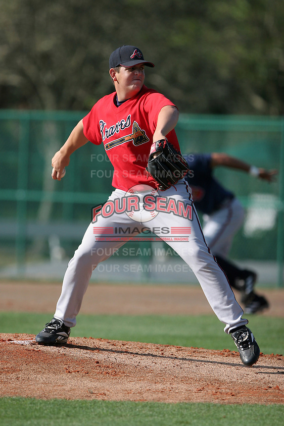Atlanta Braves minor leaguer Cory Rasmus during Spring Training at Disney's Wide World of Sports on March 15, 2007 in Orlando, Florida.  (Mike Janes/Four Seam Images)