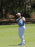Lee Westwood (ENG) in action on the 2nd during Round 2 of the ISPS Handa World Super 6 Perth at Lake Karrinyup Country Club on the Friday 9th February 2018.<br /> Picture:  Thos Caffrey / www.golffile.ie<br /> <br /> All photo usage must carry mandatory copyright credit (&copy; Golffile | Thos Caffrey)
