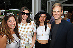 Andrea Feldman Falcione, Sima Familant, Leah Diedricks, John Houck==<br /> LAXART 5th Annual Garden Party Presented by Tory Burch==<br /> Private Residence, Beverly Hills, CA==<br /> August 3, 2014==<br /> &copy;LAXART==<br /> Photo: DAVID CROTTY/Laxart.com==