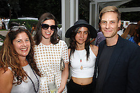 Andrea Feldman Falcione, Sima Familant, Leah Diedricks, John Houck==<br /> LAXART 5th Annual Garden Party Presented by Tory Burch==<br /> Private Residence, Beverly Hills, CA==<br /> August 3, 2014==<br /> ©LAXART==<br /> Photo: DAVID CROTTY/Laxart.com==