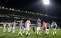 Calcio, Serie A: Fiorentina - Juventus, stadio Artemio Franchi Firenze 9 febbraio 2018.<br /> Juventus' players celebrate after winning 2-0 the Italian Serie A football match between Fiorentina and Juventus at Florence's Artemio Franchi stadium, February 9, 2018.<br /> UPDATE IMAGES PRESS/Isabella Bonotto
