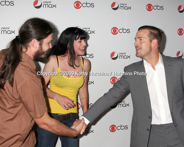 Pauley Perrette & husband, .Chris O'Donnell.arriving at the CBS Fall Preveiw Party.My House  Club.Los Angeles, CA.September 16, 2009.©2009 Kathy Hutchins / Hutchins Photo....