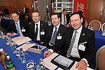 IHF- REPRO FREE HOTELIERS CONFERENCE KILLARNEY: .David Mellanphy, O'Callaghan Hotels, Patrick Cass, Jurys, Pete Collins, Academy Plaza Hotel and Martin Mangan, The Conrad Hotel Dublin pictured at the IHF conference in The Malton Hotel, Killarney on Monday..Picture by Don MacMonagle...PR photo IHF