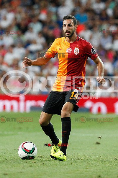 Galatasaray´s Jose Rodriguez during Santiago Bernabeu Trophy match at Santiago Bernabeu stadium in Madrid, Spain. August 18, 2015. (ALTERPHOTOS/Victor Blanco)
