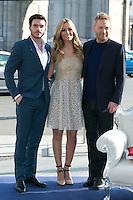 Kenneth Branagh, Richard Madden and Edurne attend the Cinderella Movie Presentation at Puerta de Alcala, Madrid,  Spain. March 16, 2015.(ALTERPHOTOS/)Carlos Dafonte) /NORTEphoto.com