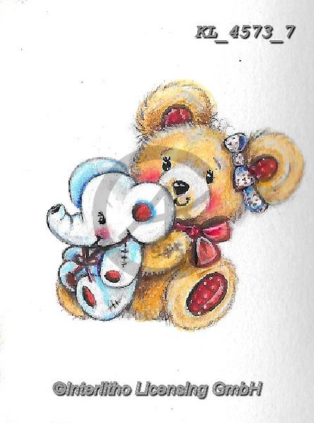 VALENTINE, VALENTIN, paintings+++++,KL4573/7,#v#, EVERYDAY ,sticker,stickers ,bear,bears