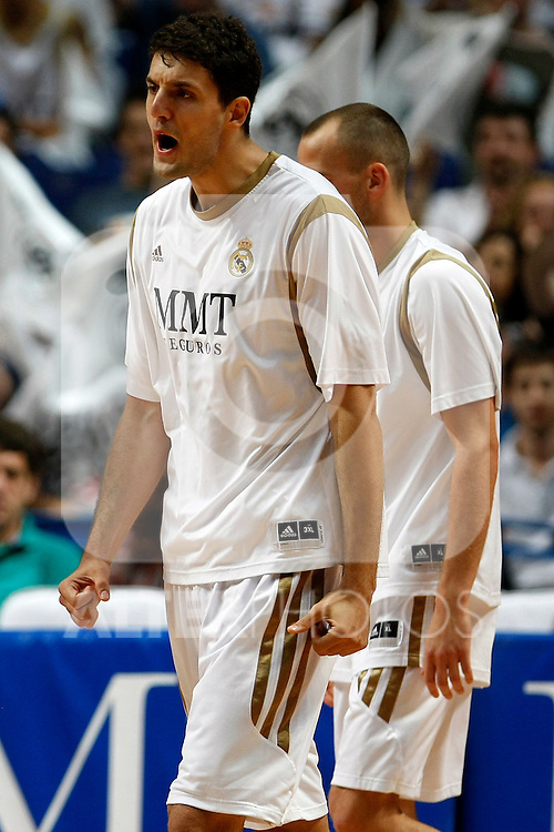 Real Madrid´s Mirotic during La Liga ACB Playoffs semifinal last match, Madrid 2012/June/02..(ALTERPHOTOS/ARNEDO)