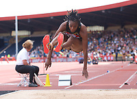 Lorraine Ugen (Great Britain) competing in the Women's long jump during the IAAF Diamond League Athletics Müller Grand Prix Birmingham at Alexander Stadium, Walsall Road, Birmingham on 18 August 2019. Photo by Alan  Stanford.