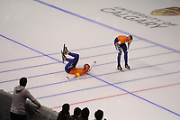 SPEEDSKATING: CALGARY: Olympic Oval, 02-12-2017, ISU World Cup, Team Pursuit NED, Lotte van Beek (NED), Marrit Leenstra (NED), ©photo Martin de Jong