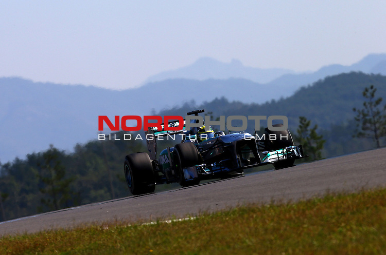 03.06.10.2013, Korea-International-Circuit, Yeongam, KOR, F1, Gro&szlig;er Preis von S&uuml;dkorea, Yeongam, im Bild Nico Rosberg (GER), Mercedes GP <br /> for Austria &amp; Germany Media usage only!<br />  Foto &copy; nph / Mathis