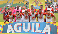IBAGUÉ- COLOMBIA ,29-04-2018: Formación del Independiente Santa Fe  contra el  Deportes Tolima     durante partido por la fecha 18 de la Liga Águila I 2018 jugado en el estadio Manuel Murillo Toro de la ciudad de Ibagué. / Team of Independiente Santa Fe agaisnt  of Deportes Tolima during match for the date 18 of the Aguila League I 2018 at Manuel Murillo Toro  stadium in Ibague city. Photo: VizzorImage  /Juan Carlos Escobar / Contribuidor