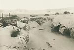 Cryolite quarry Ivittuu, Greenland in the late 19th century, circa 1889,