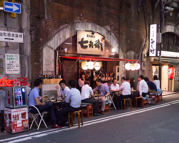 Izakayas, Japanese bars, are one of the most popular places for socialising with co-workers after a long work day. Participation in nomikai, drinking sessions with one's boss and colleagues, is an unspoken requirement for promotion in the majority of Japanese companies.