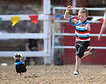 Oscar Karis, 6, competes in the chicken race at the International Camel Races in Virginia City, Nev., on Friday, Sept. 9, 2011. .Photo by Cathleen Allison
