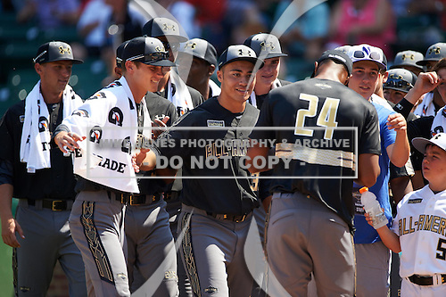 during the Under Armour All-American Game on August 15, 2015 at Wrigley Field in Chicago, Illinois. (Mike Janes/Four Seam Images)