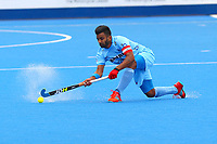 Manpreet Singh the Indian captain during the Hockey World League Quarter-Final match between India and Malaysia at the Olympic Park, London, England on 22 June 2017. Photo by Steve McCarthy.