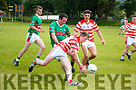 Christopher Creedon Kilgarvan in action against Brendan O'Shea Tuosist in Co League Div 5 at Kilgarvan on Sunday.