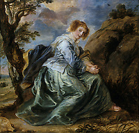 Peter Paul Rubens 1577-1640. Hagar in the desert.  Dulwich Picture Gallery.  Reference only.