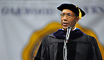 Bob Gathany / The Huntsville TImes. Oakwood University graduation Saturday evening at Von Braun Center arena.  The keynote speaker was the Governor General of Jamaica Sir Patrick Allen.  Sir Patrick Allen was given an honorary doctorate degree by Oakwood University.